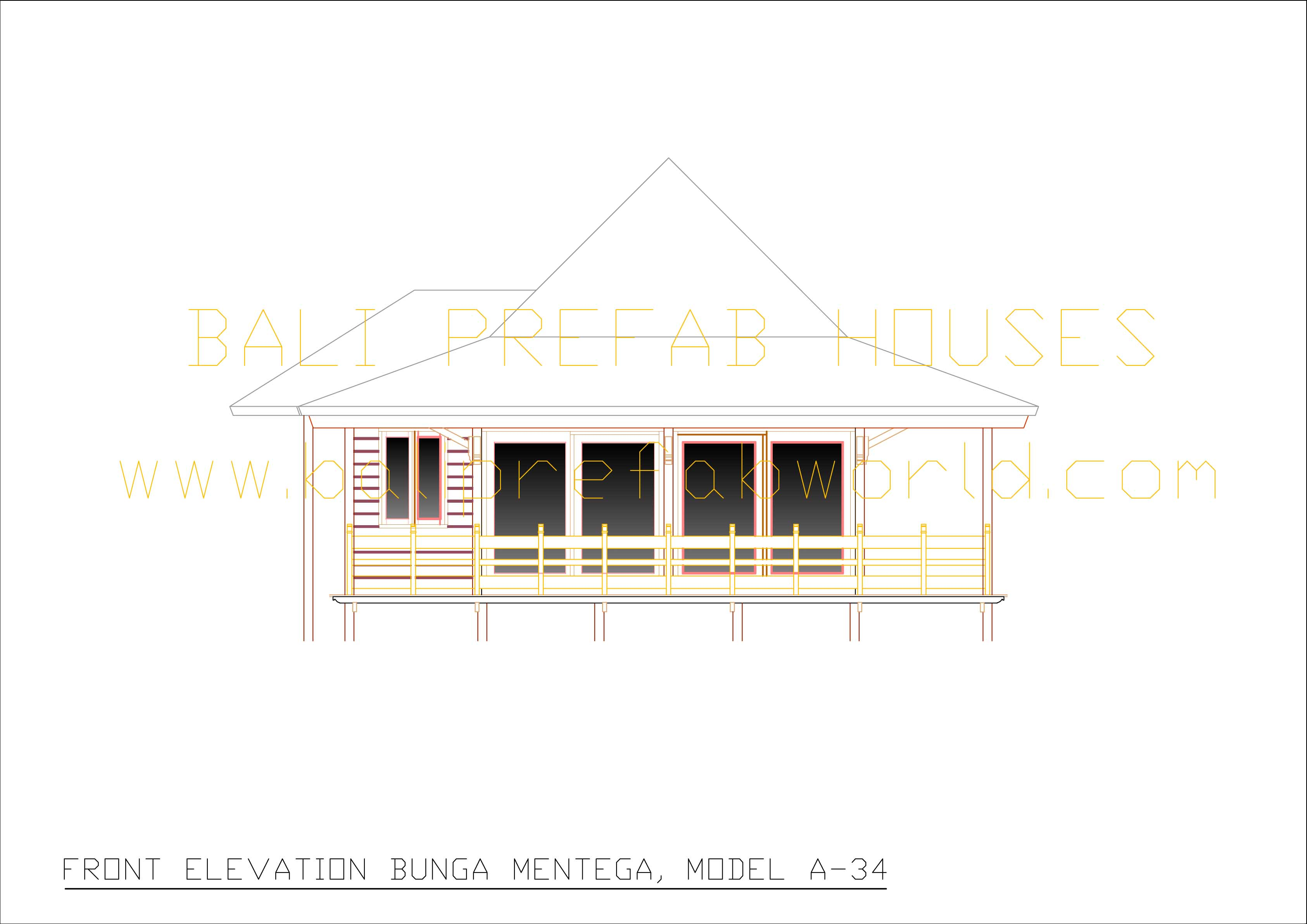 Bunga-mentega front elevation