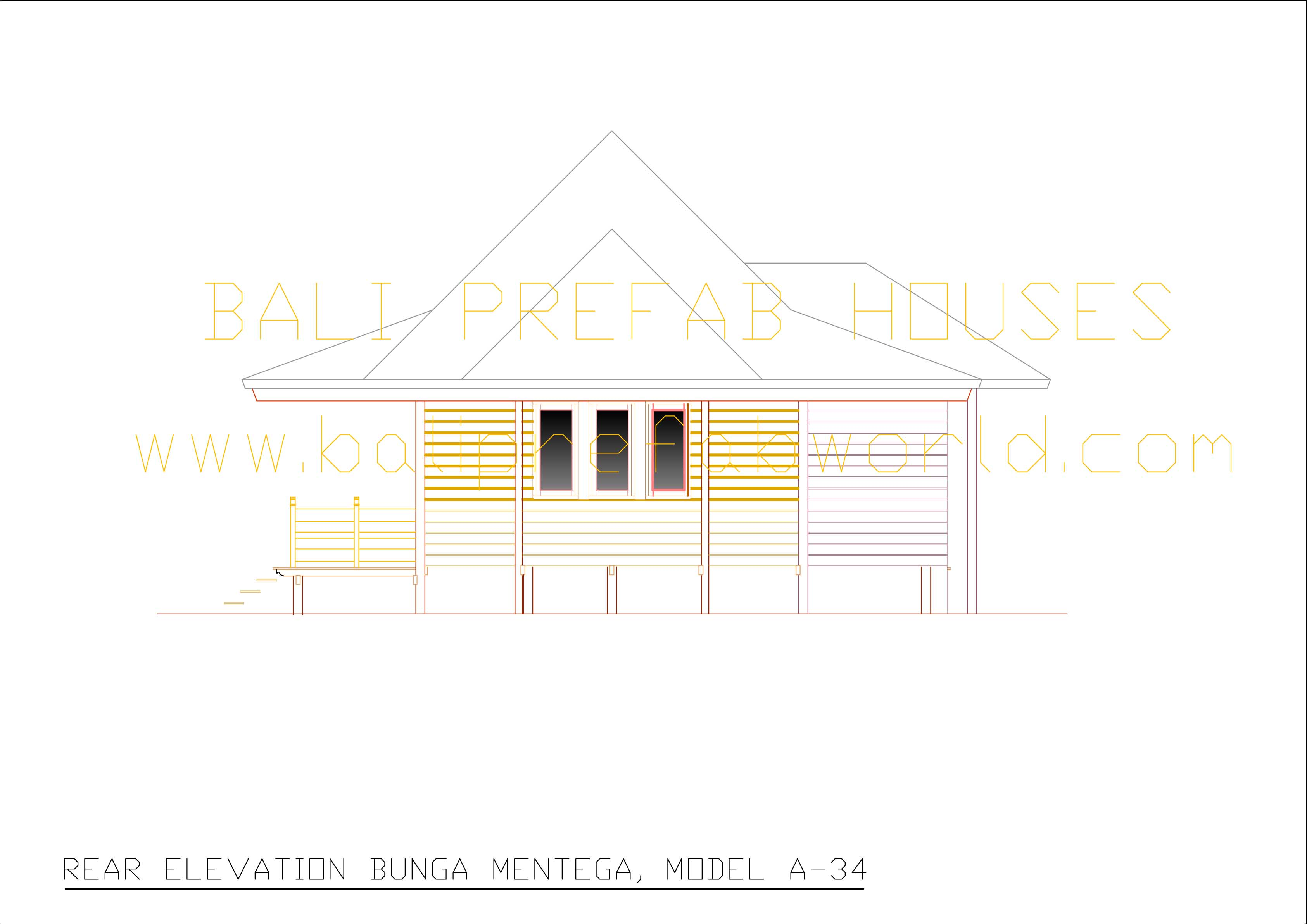 Bunga-mentega rear elevation