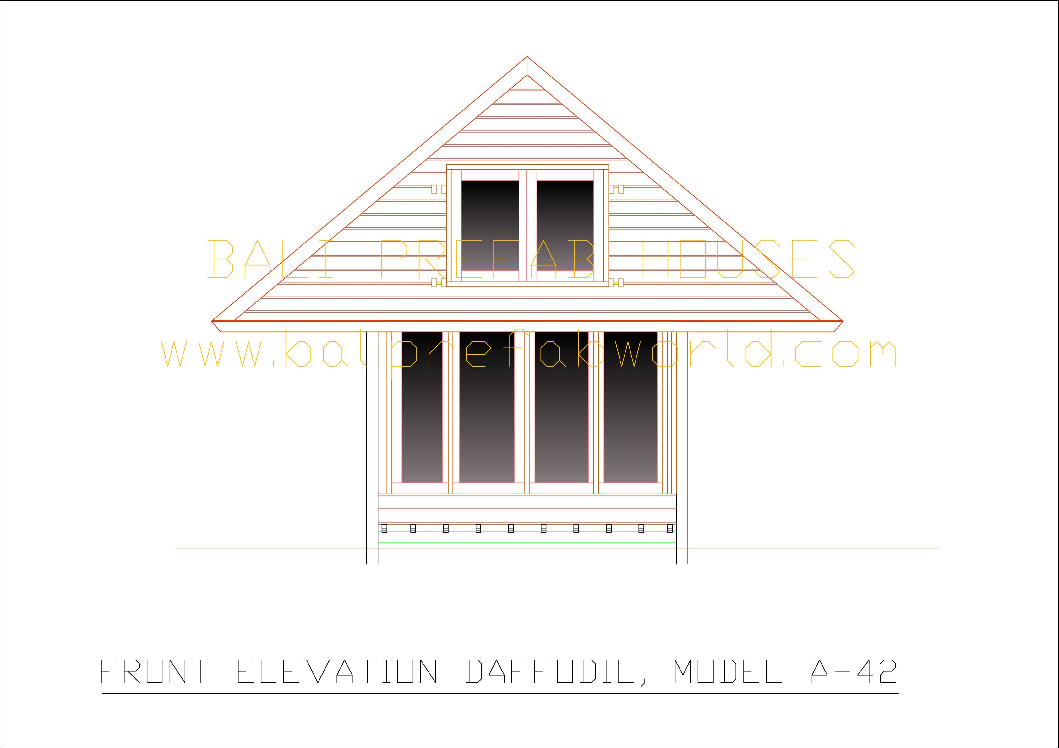 Daffodil front elevation