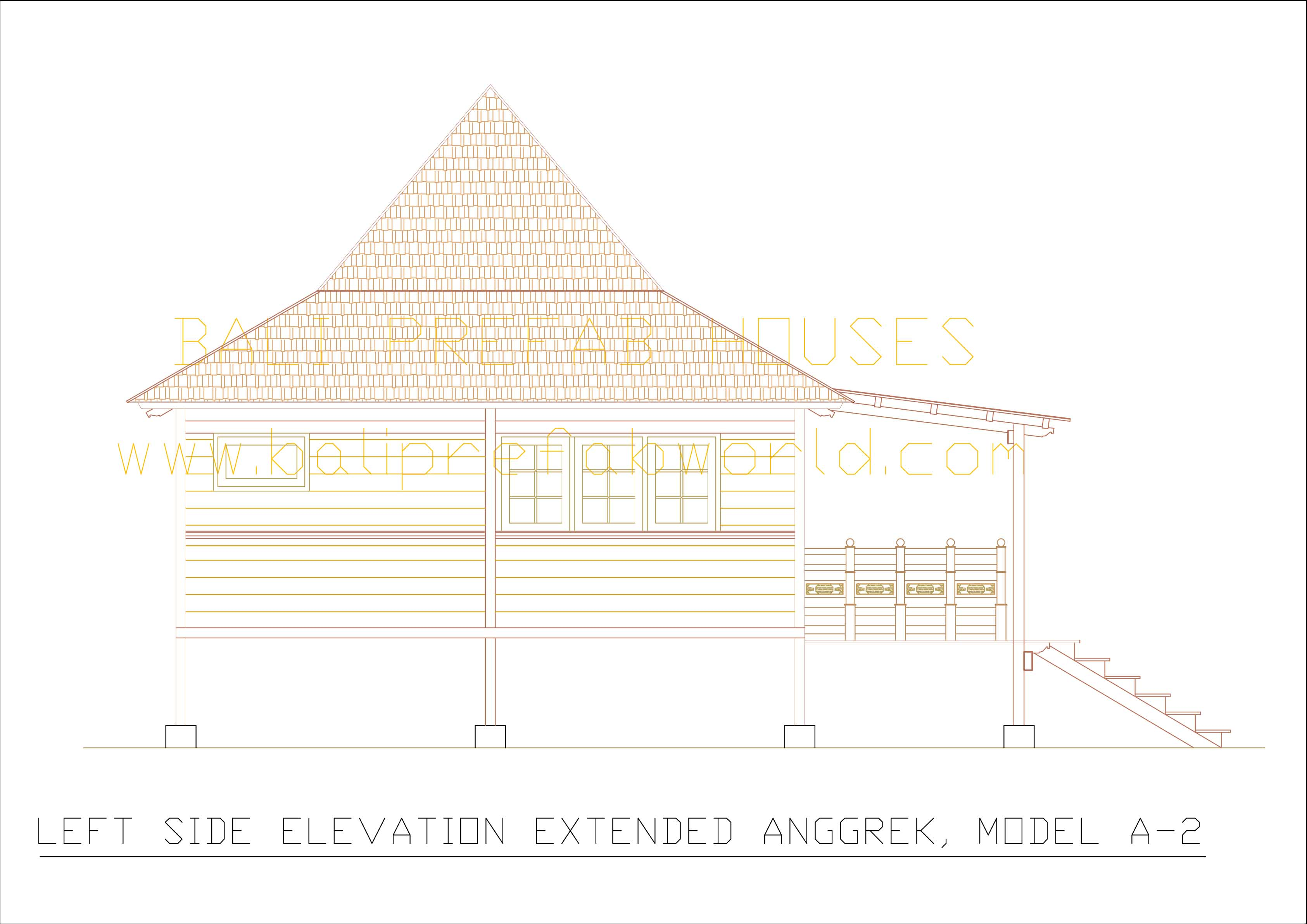 Extended Anggrek left side elevation
