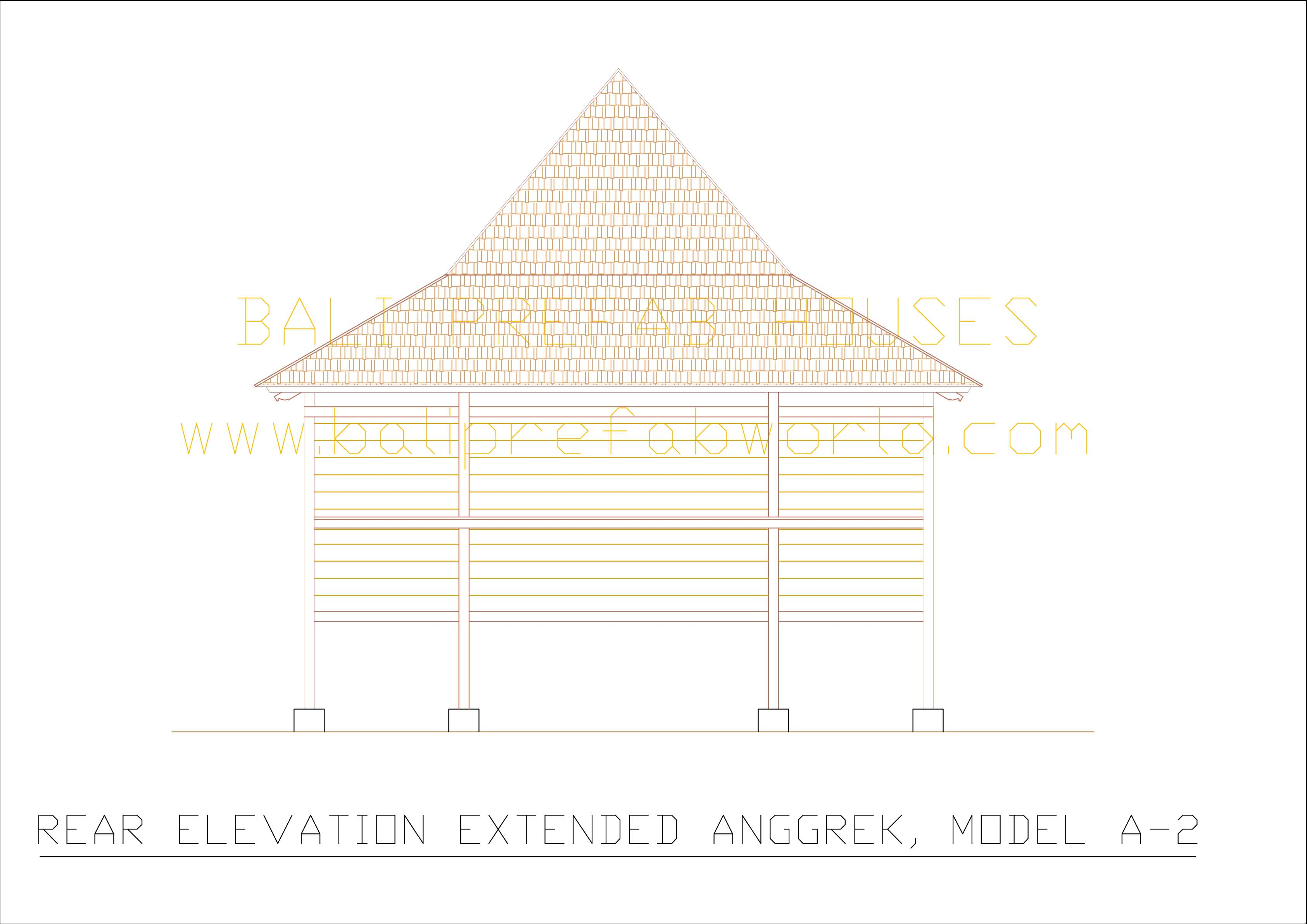 Extended Anggrek rear elevation