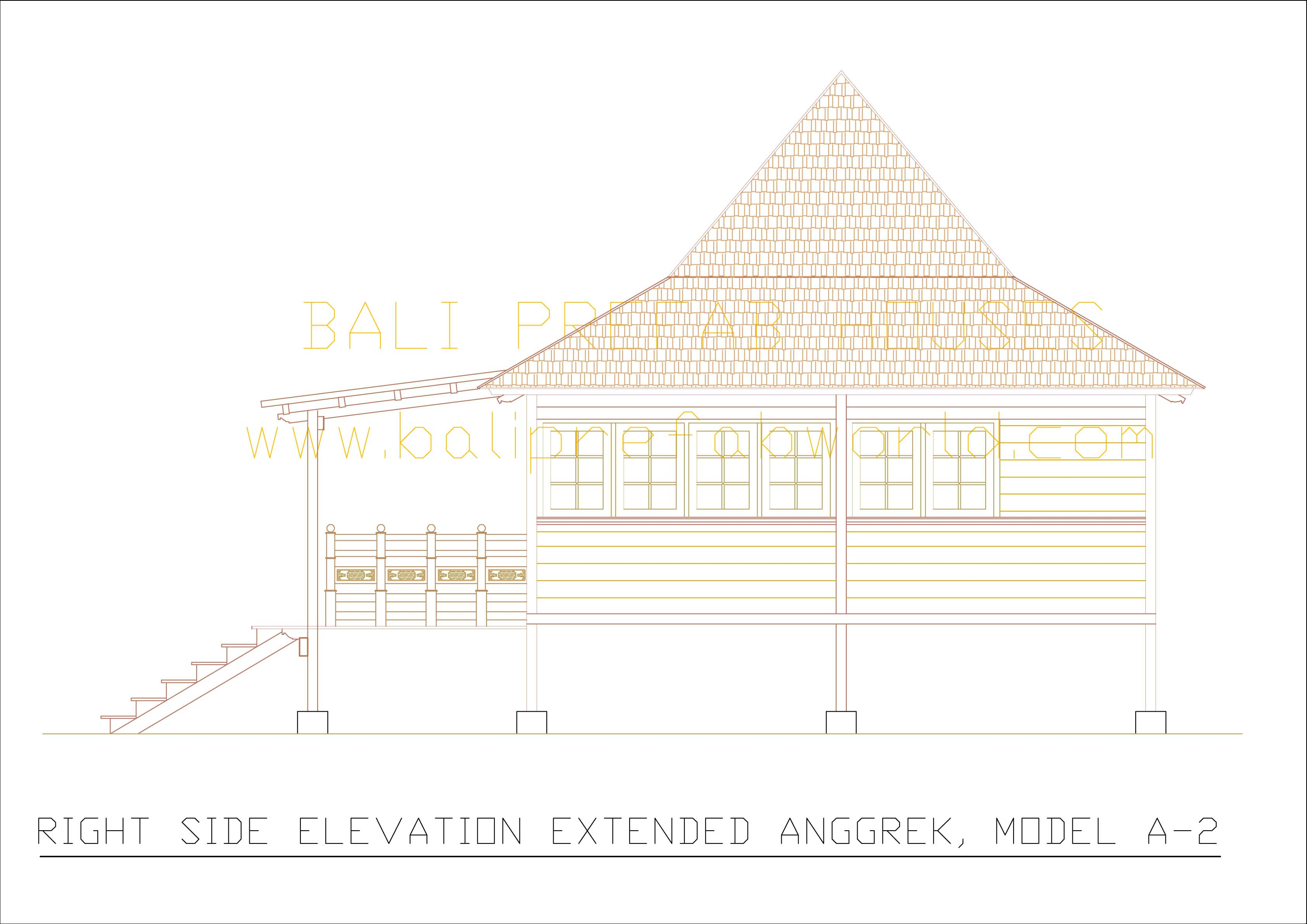 Extended Anggrek right side elevation