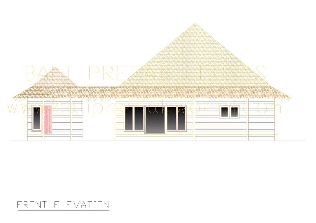 Flamboyant front elevation nts