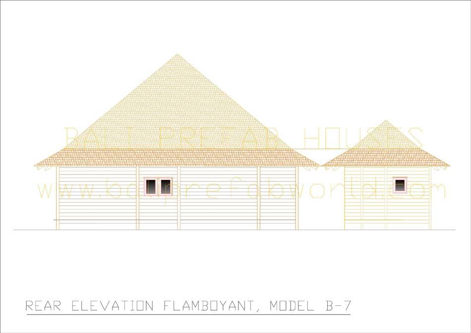Flamboyant rear elevation