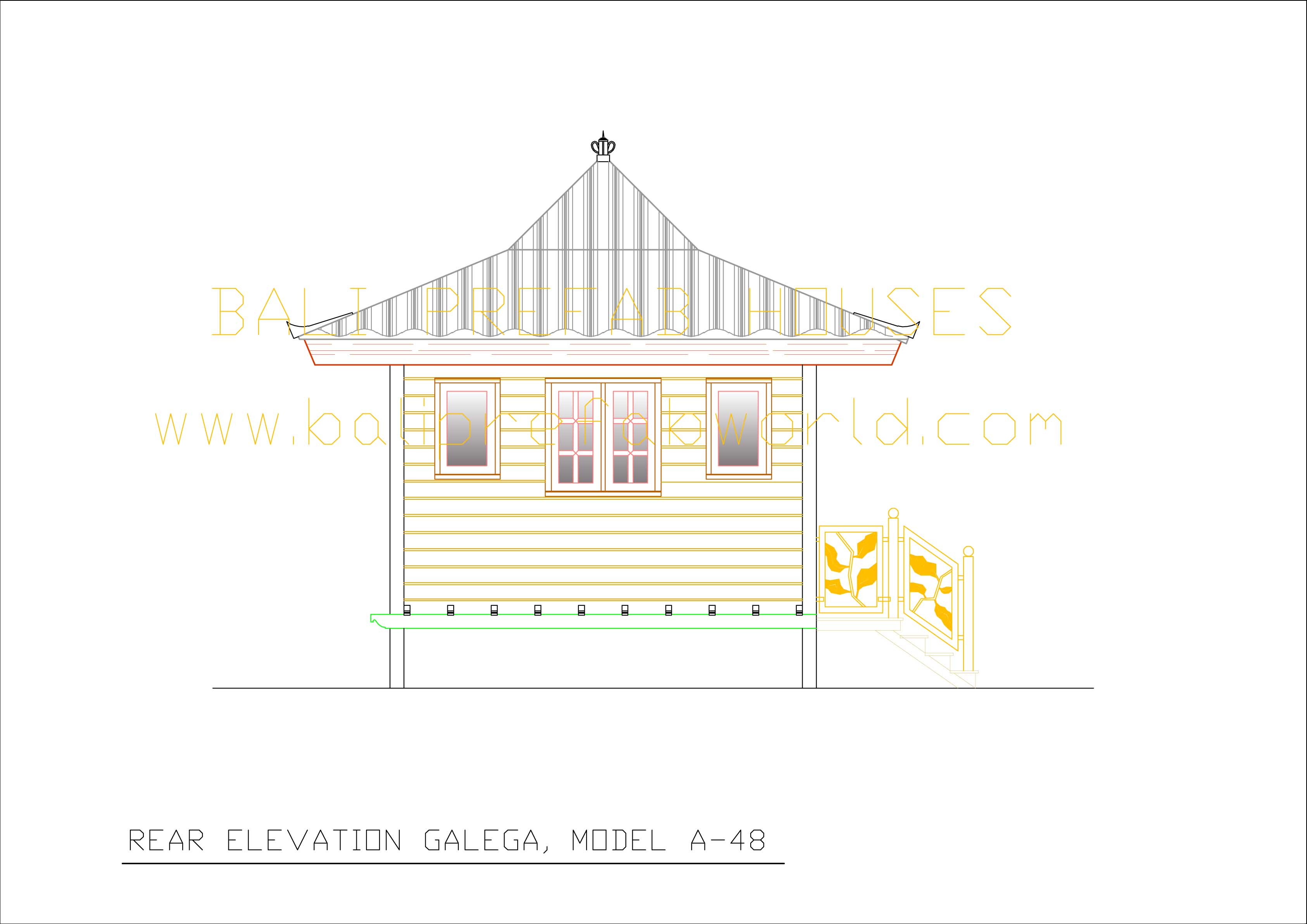 Galega for What is rear elevation