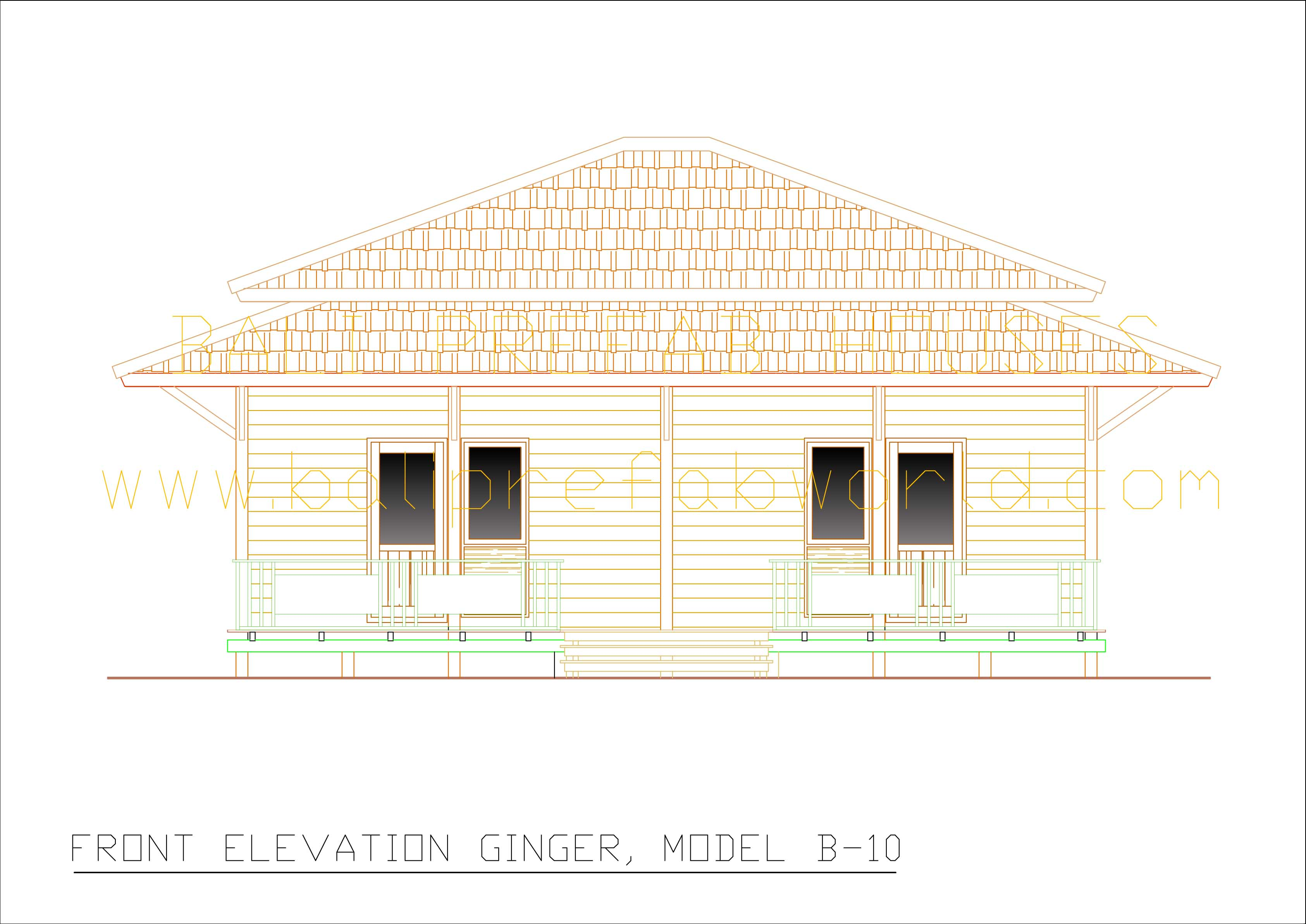 Ginger front elevation