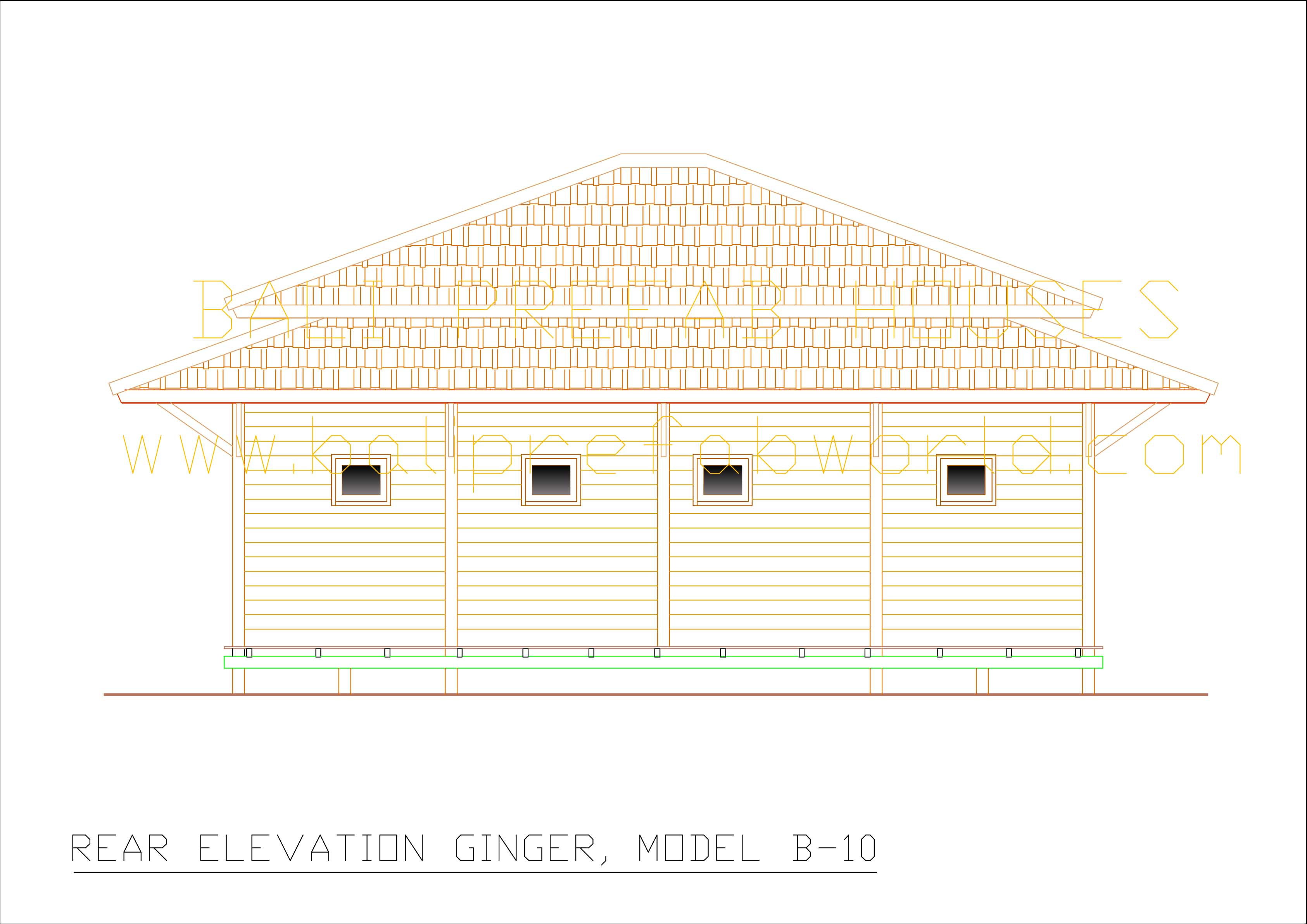 Ginger rear elevation