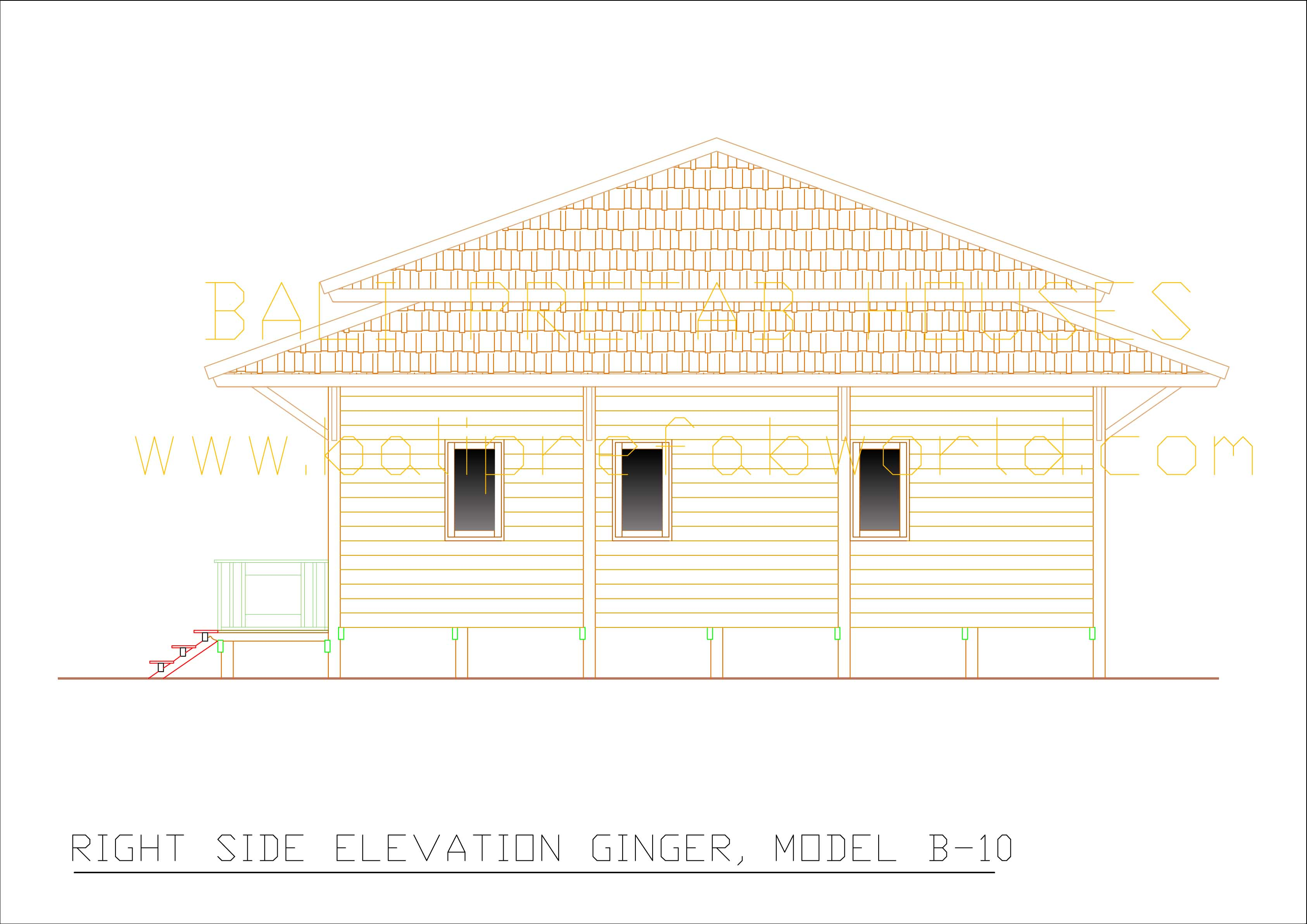 ginger right side elevation