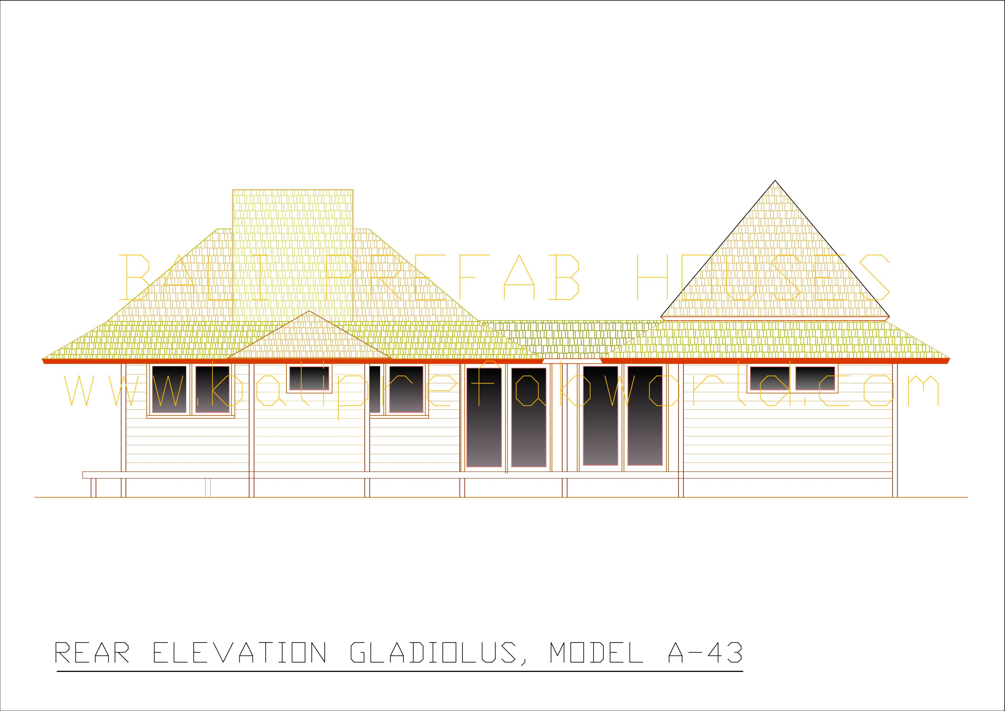 Gladiolus rear elevation