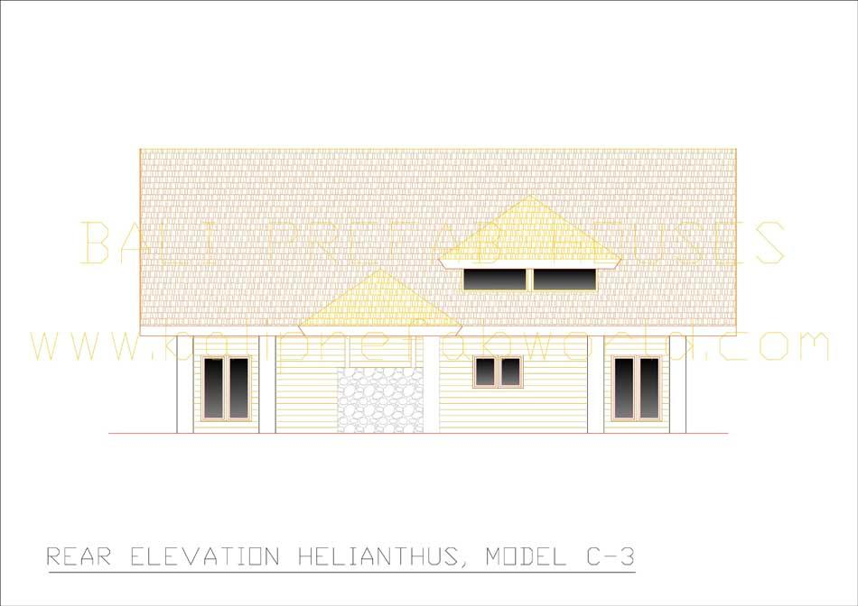 Helianthus rear elevation