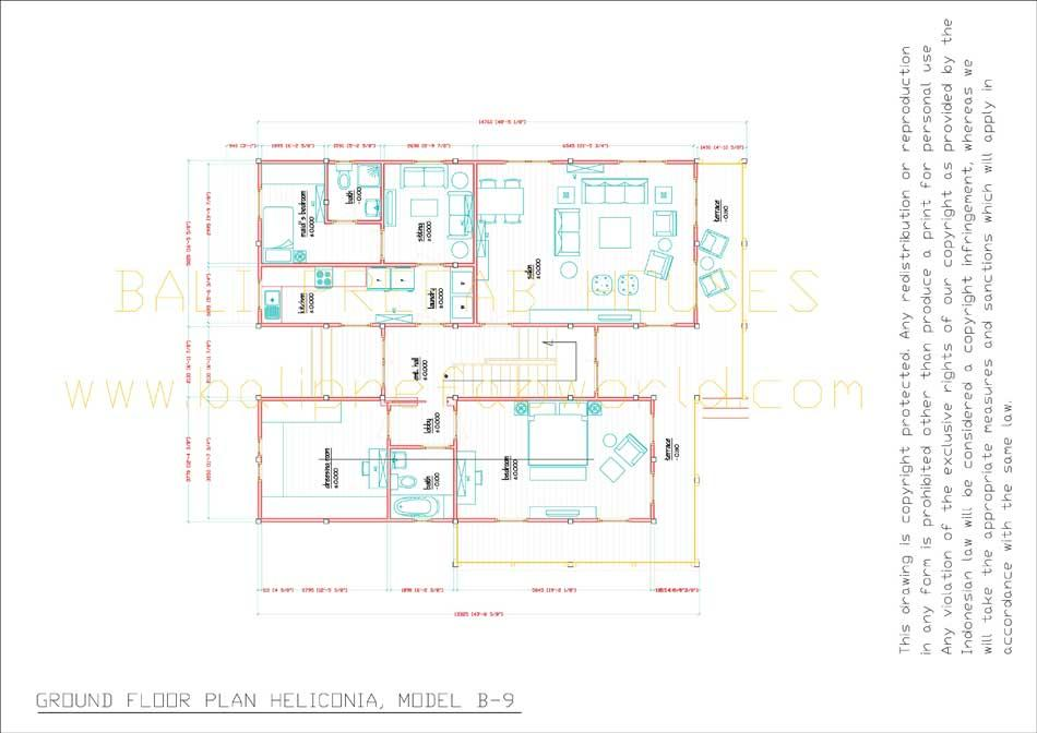 Single Floor Elevation Drawing : Heliconia