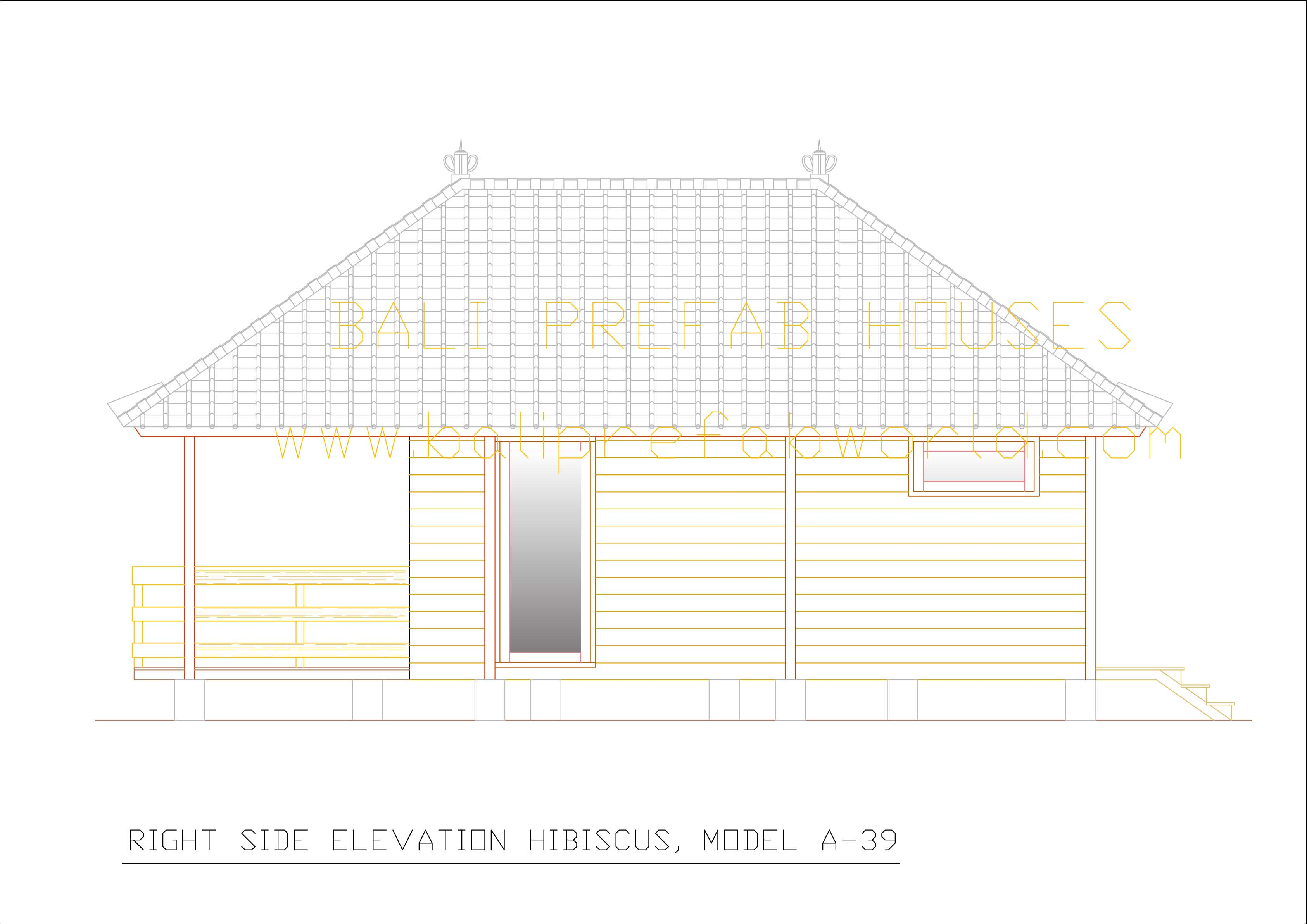 Front Elevation Side Elevation : Bali prefab world lilis hibiscus extended anggrek