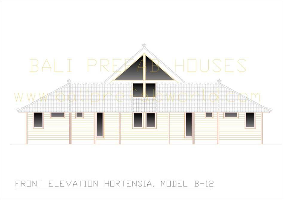 Hortensia front elevation
