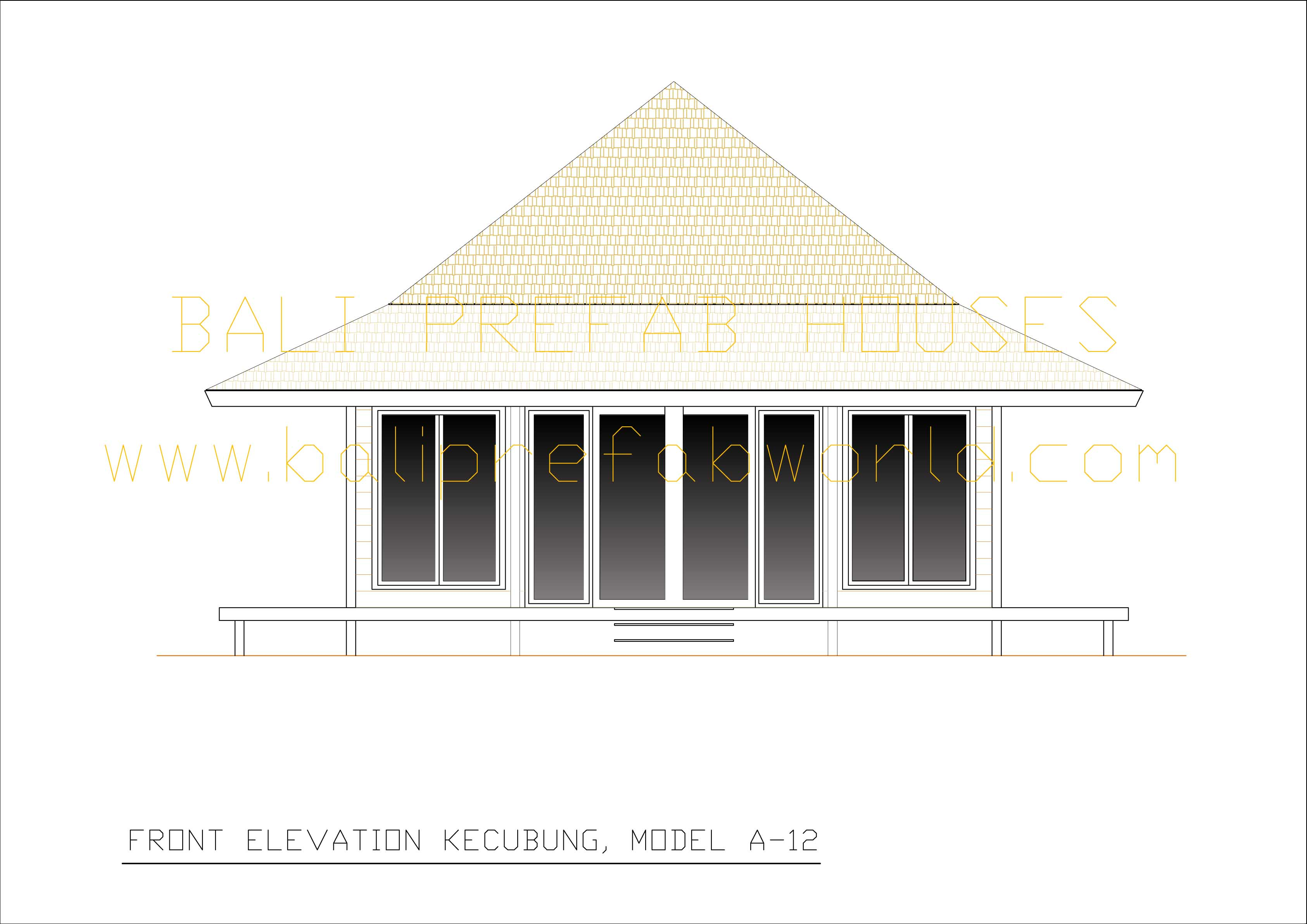 Kecubung front elevation