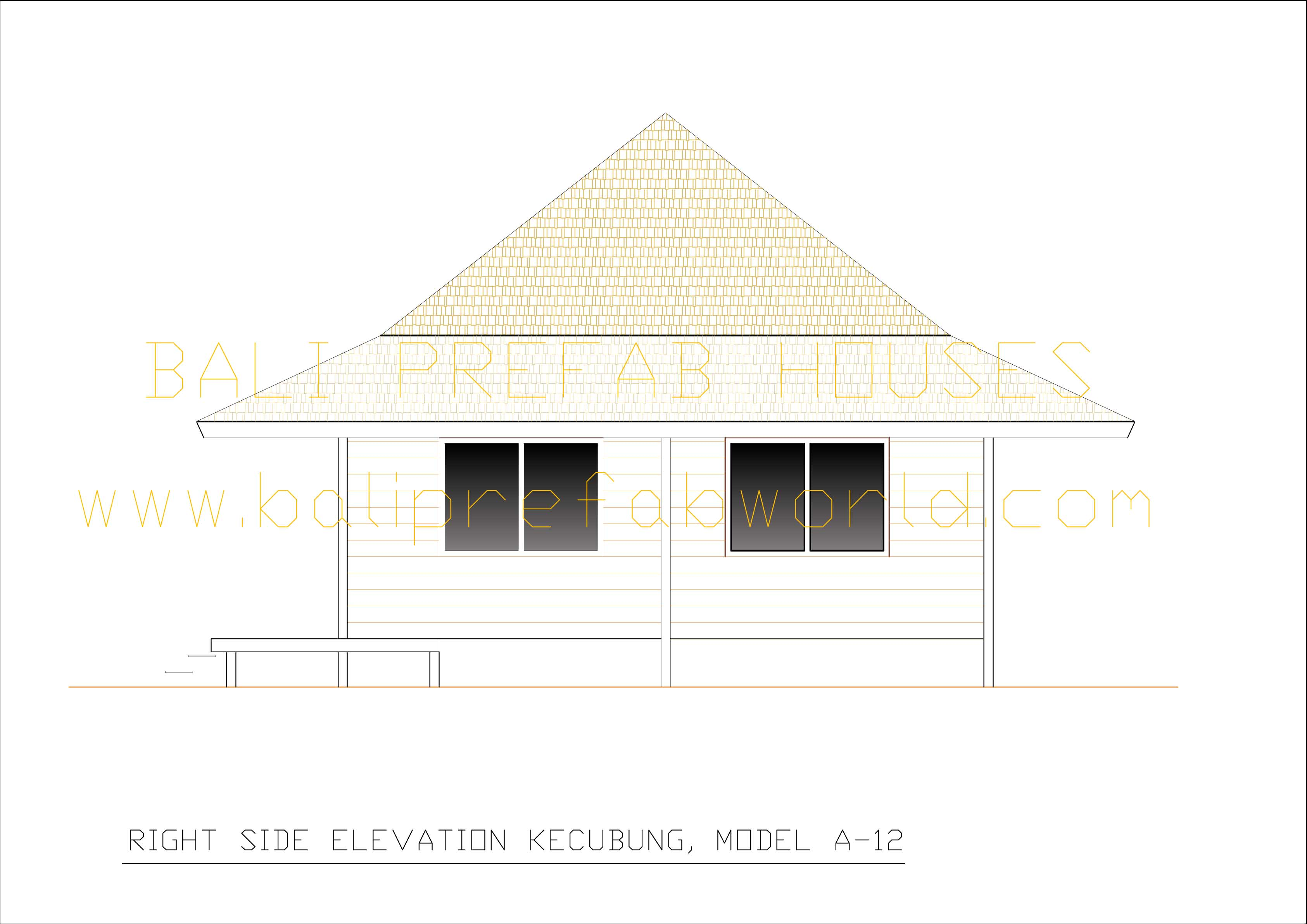 Kecubung right side elevation