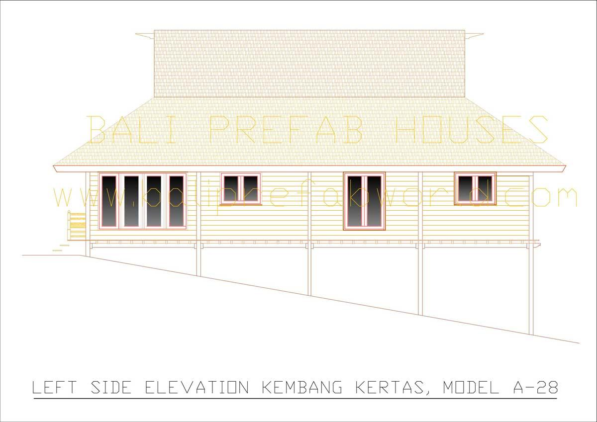 Kembang-kertas left side elevation