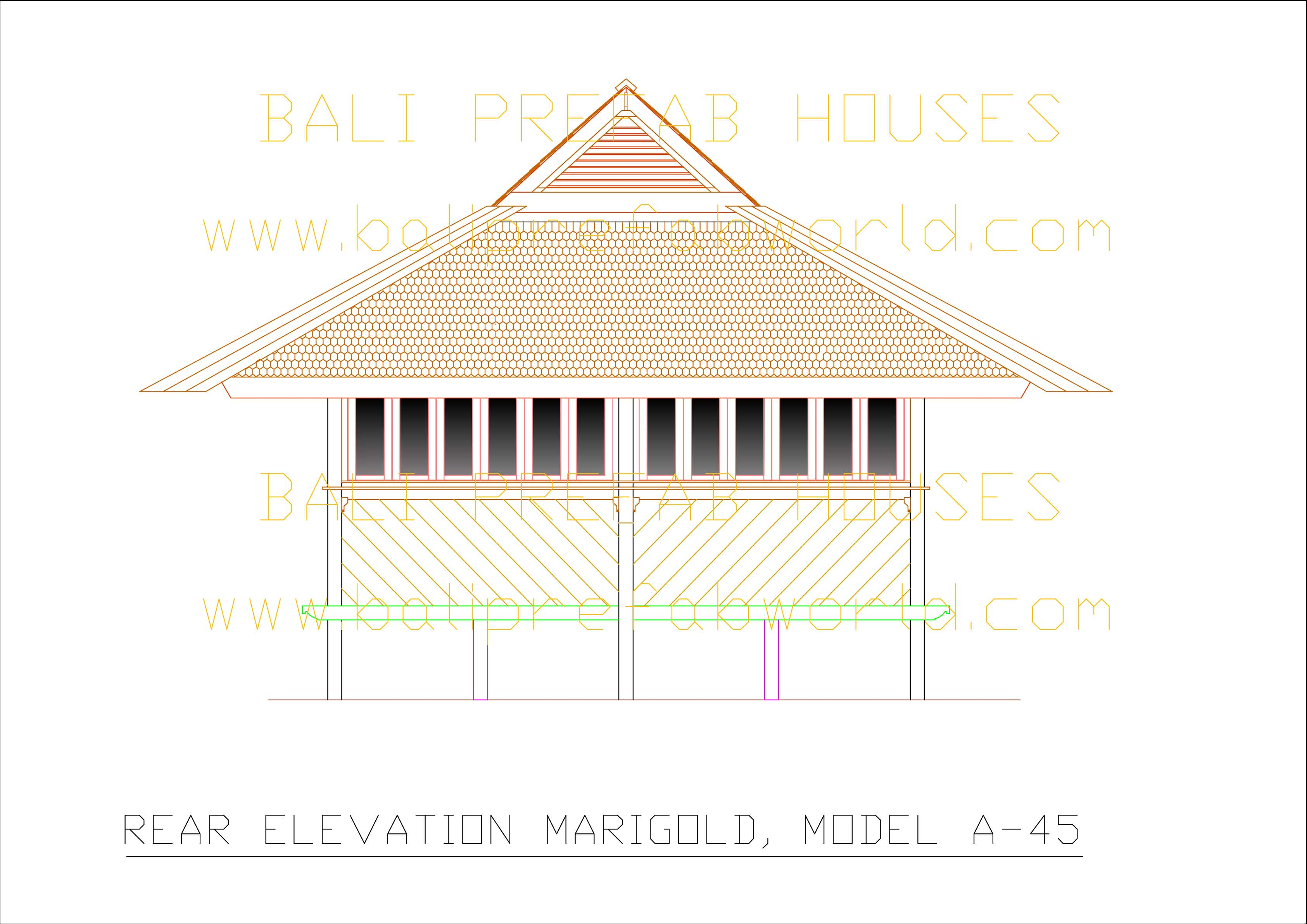 Marigold for What is rear elevation