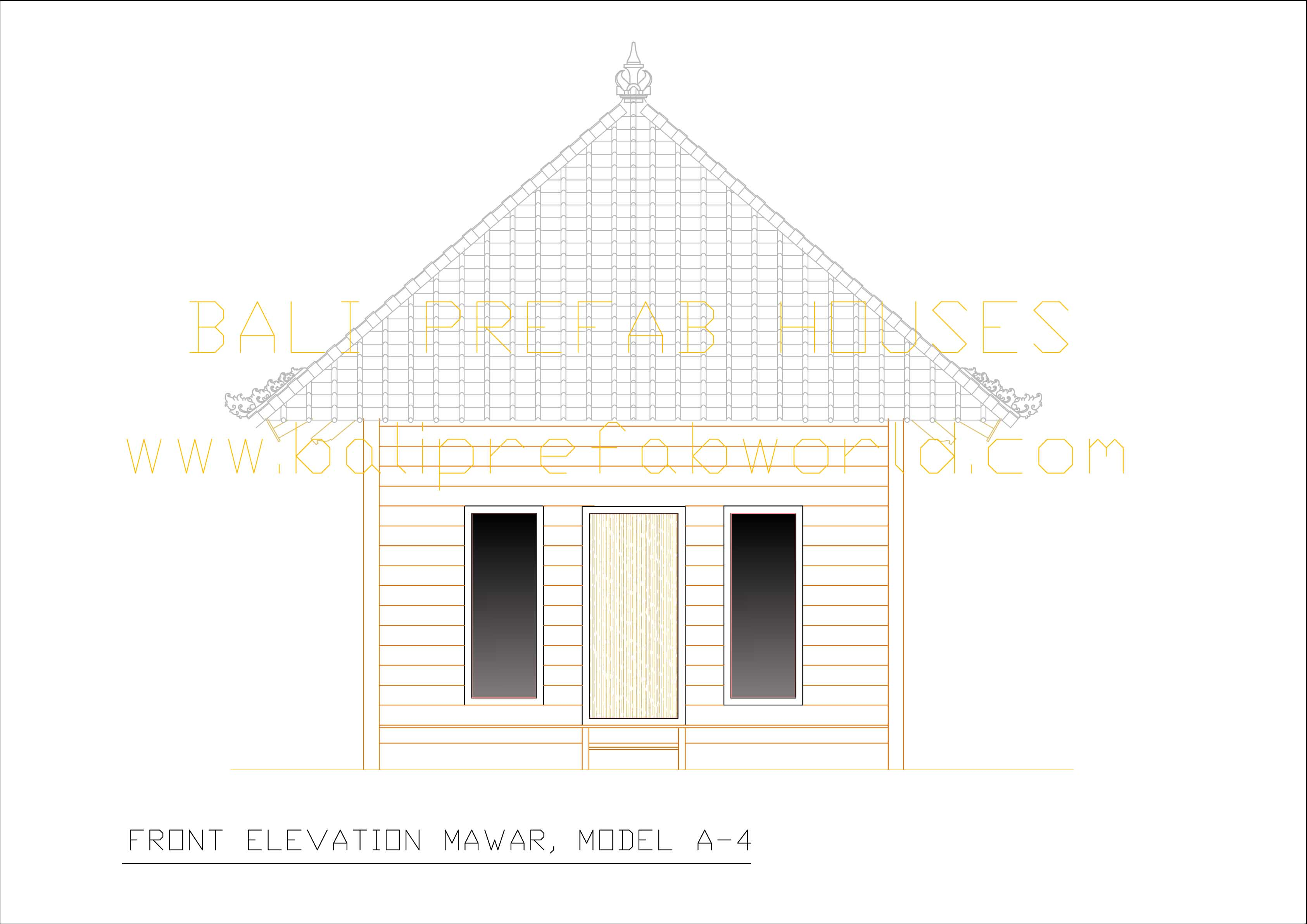 Anggrek front elevation