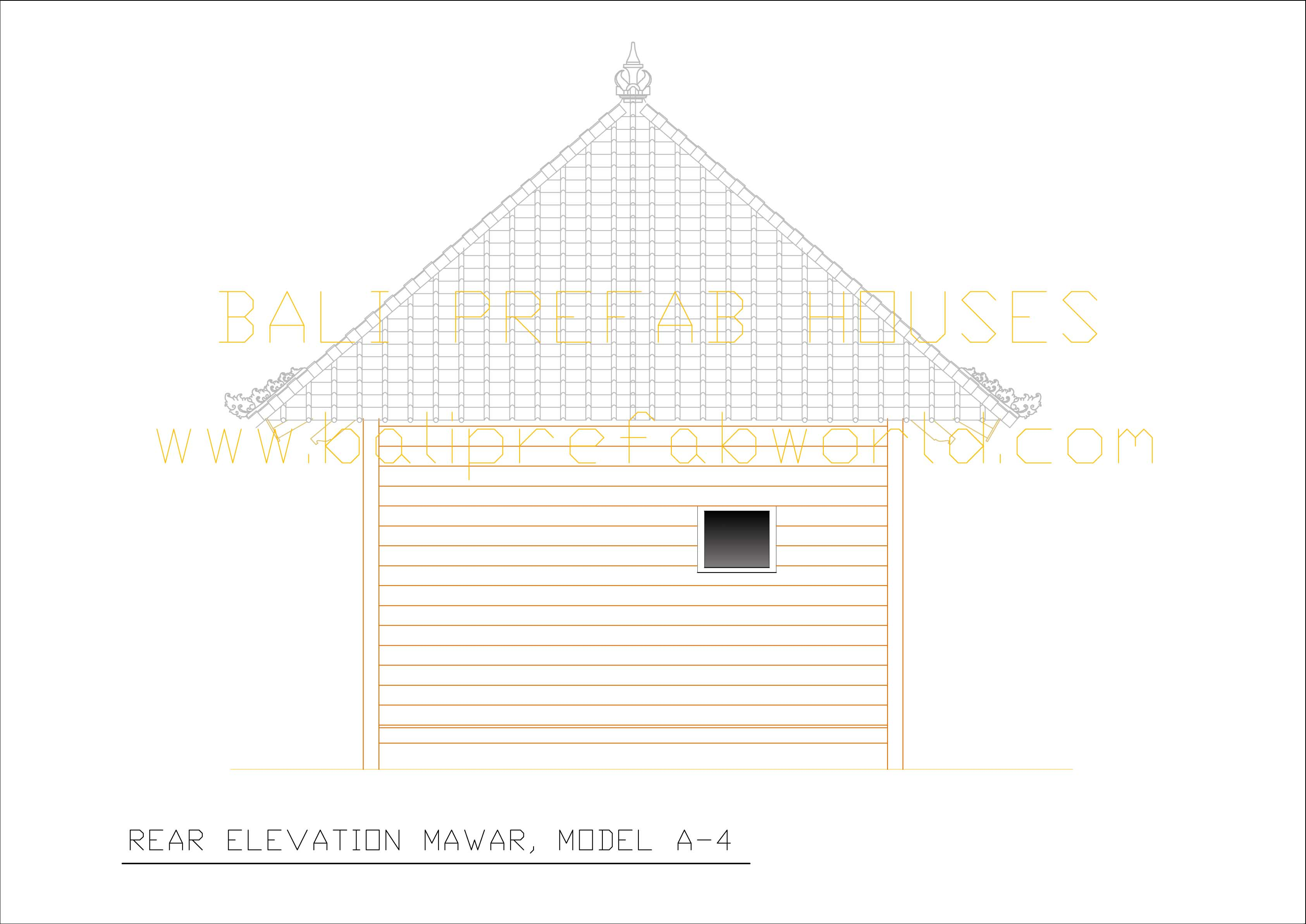 Mawar rear elevation