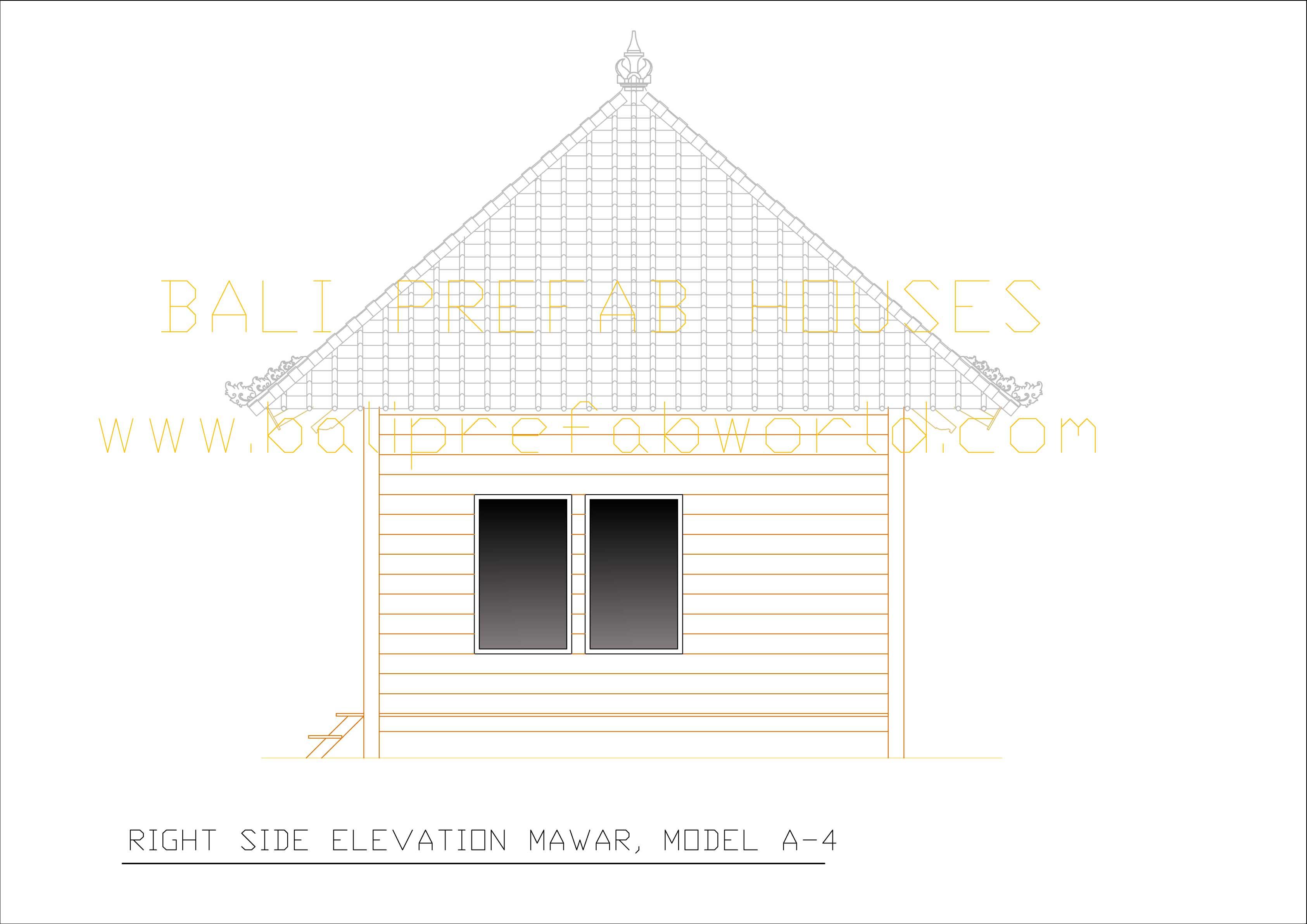 Right Side Elevation Plan : Mawar