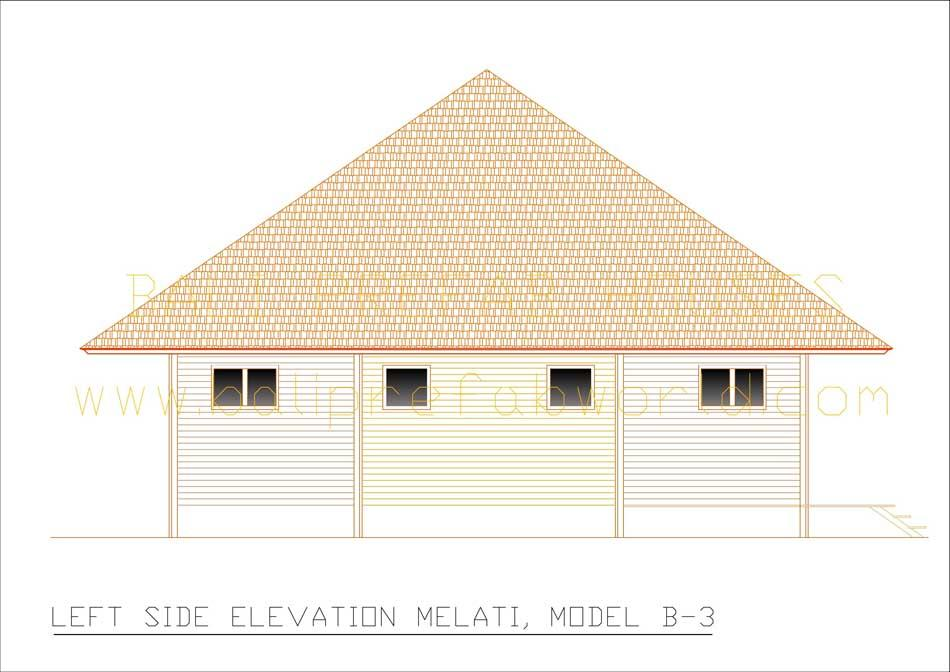 Melati left side elevation