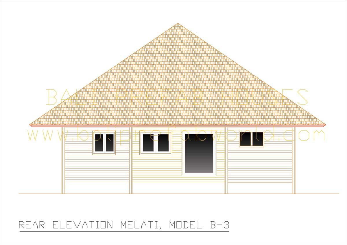 Melati rear elevation