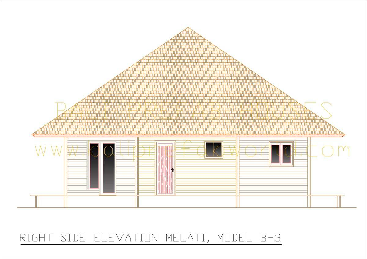 Melati right side elevation