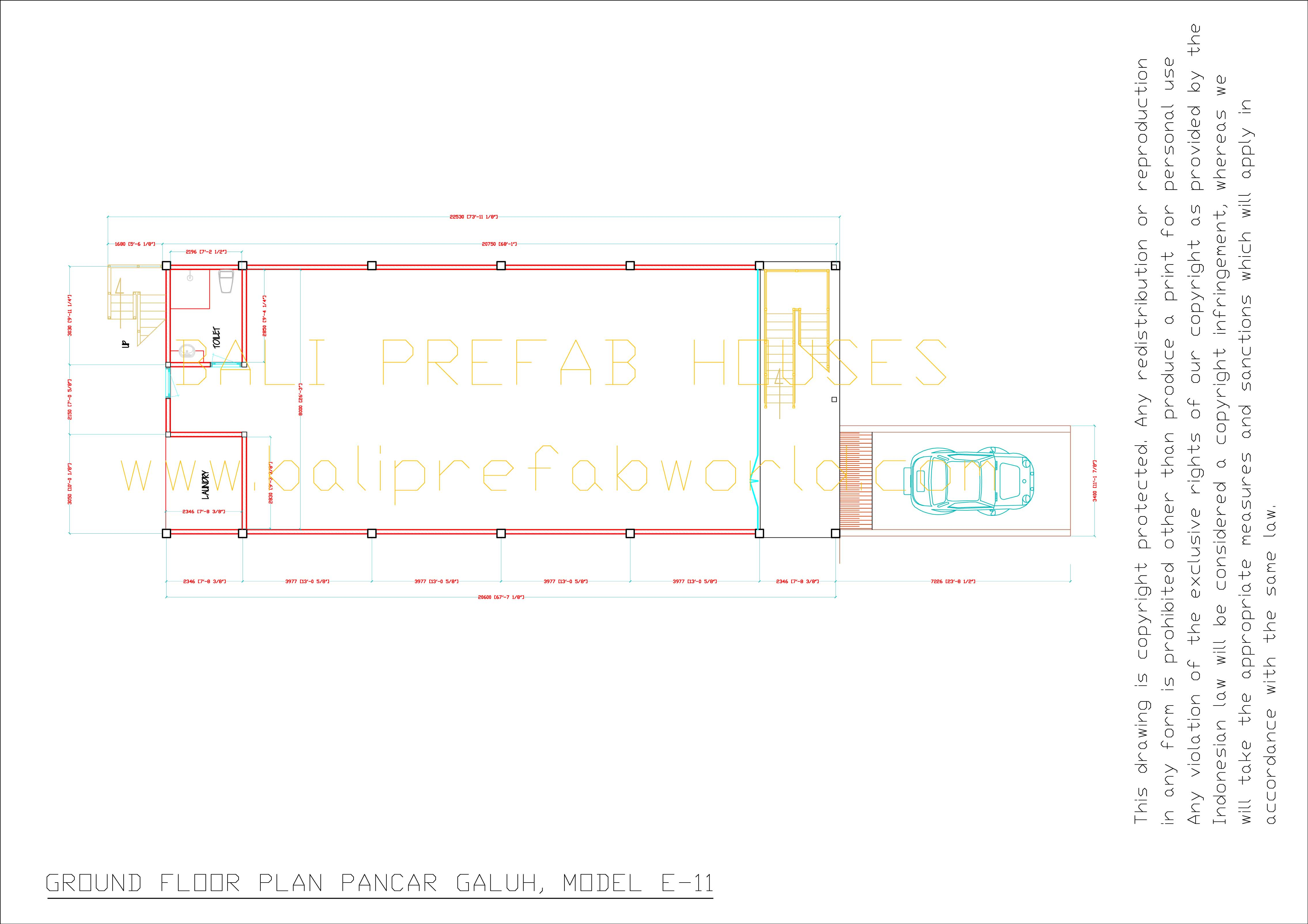 Single Floor Elevation Drawing : Pancar galuh