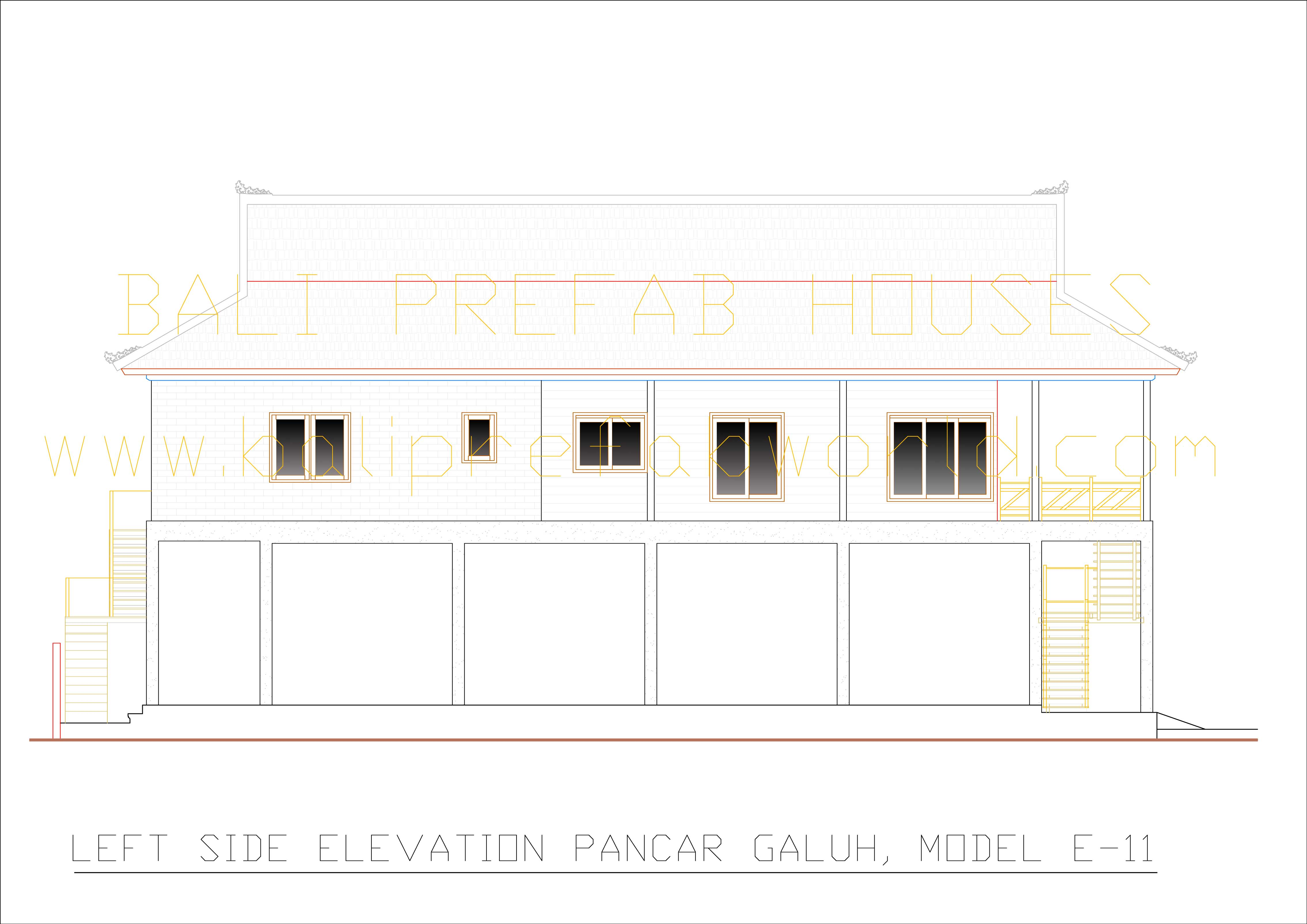 Pancar-Galuh left side elevation