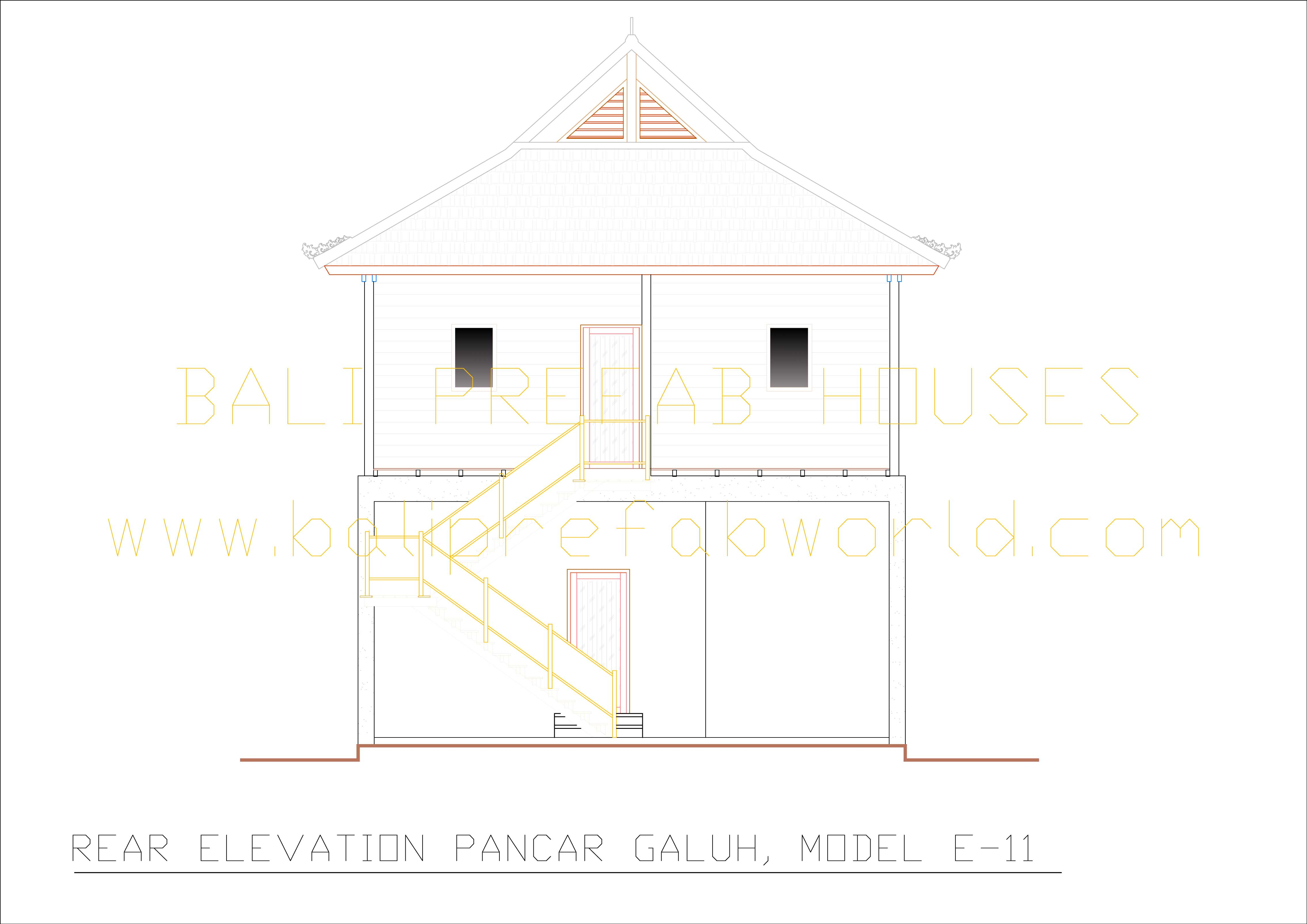 Pancar-Galuh rear elevation