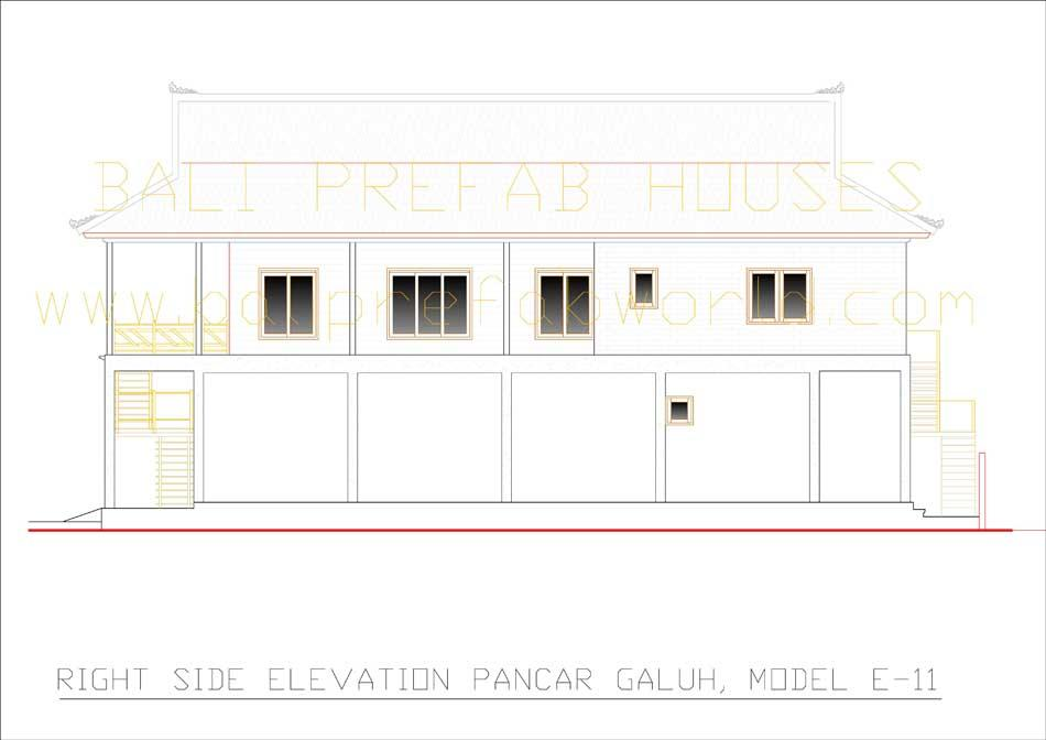 Pancar-Galuh right side elevation
