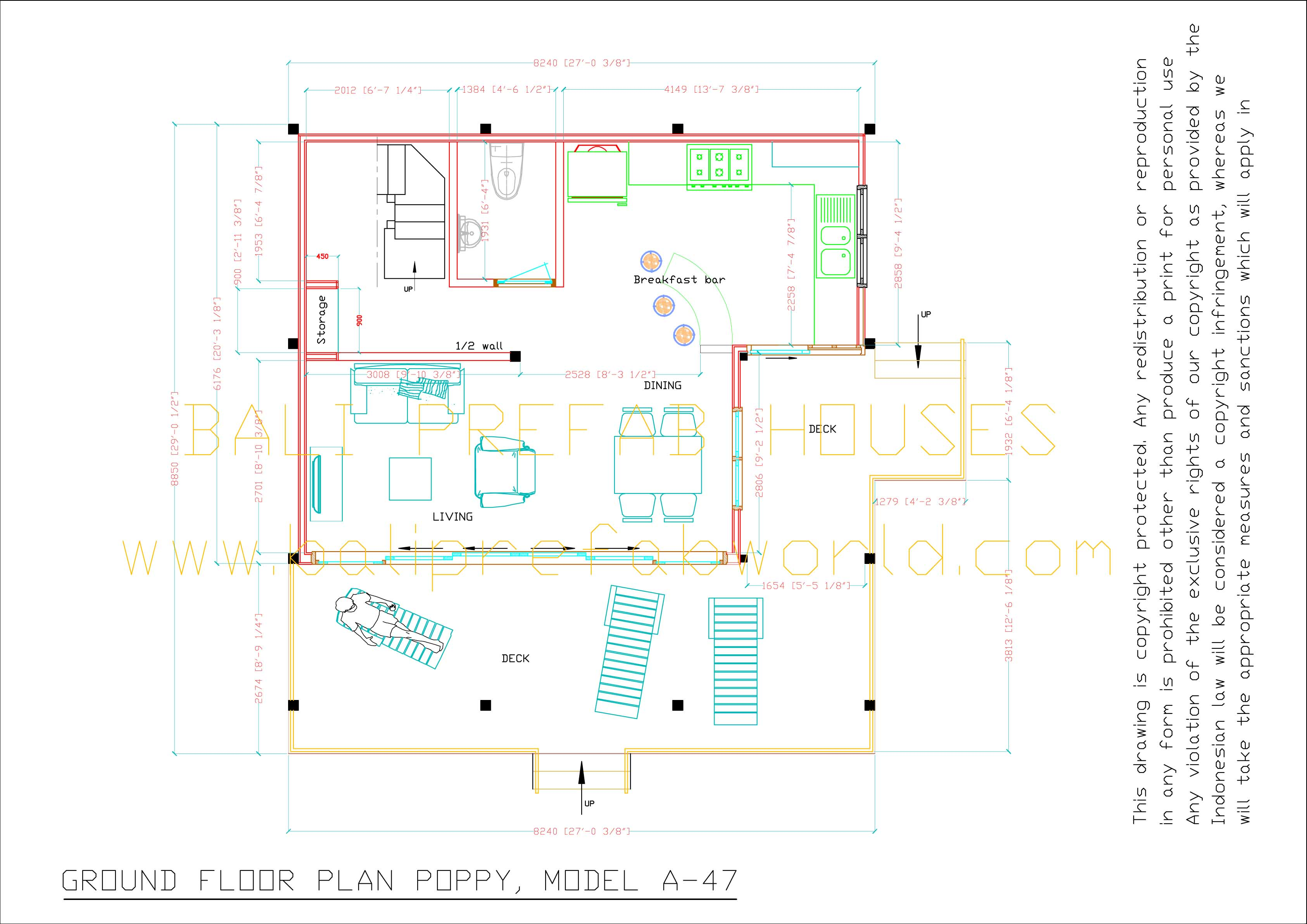 Ground Floor Plan Front Elevation : Bali prefab world lavender poppy
