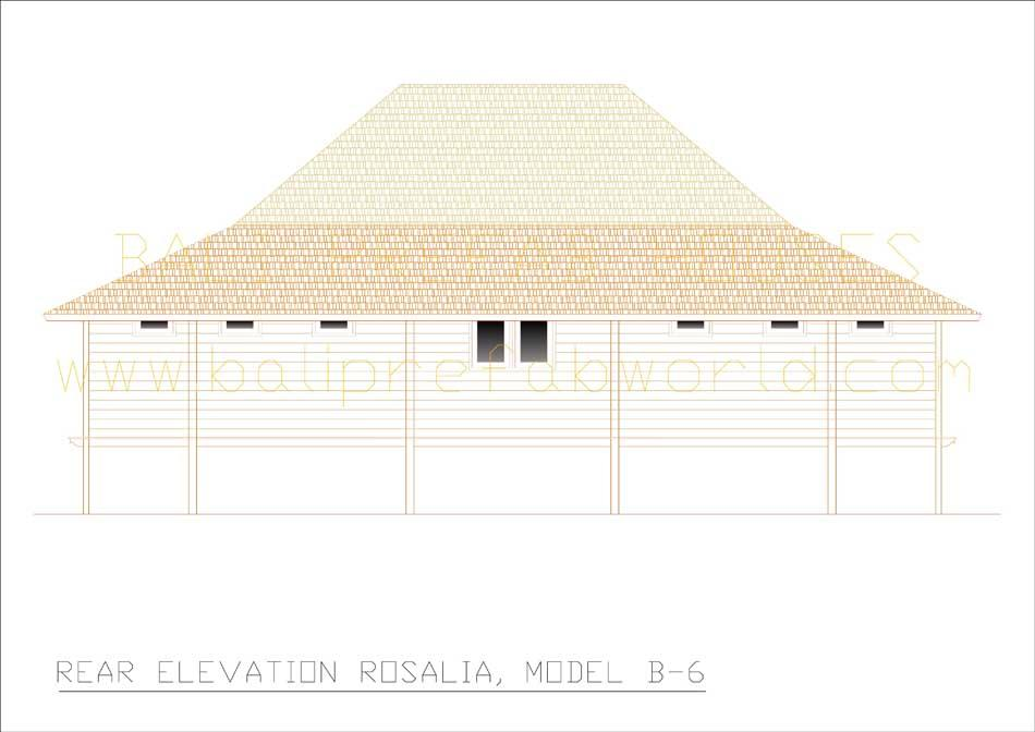 Rosalia rear elevation