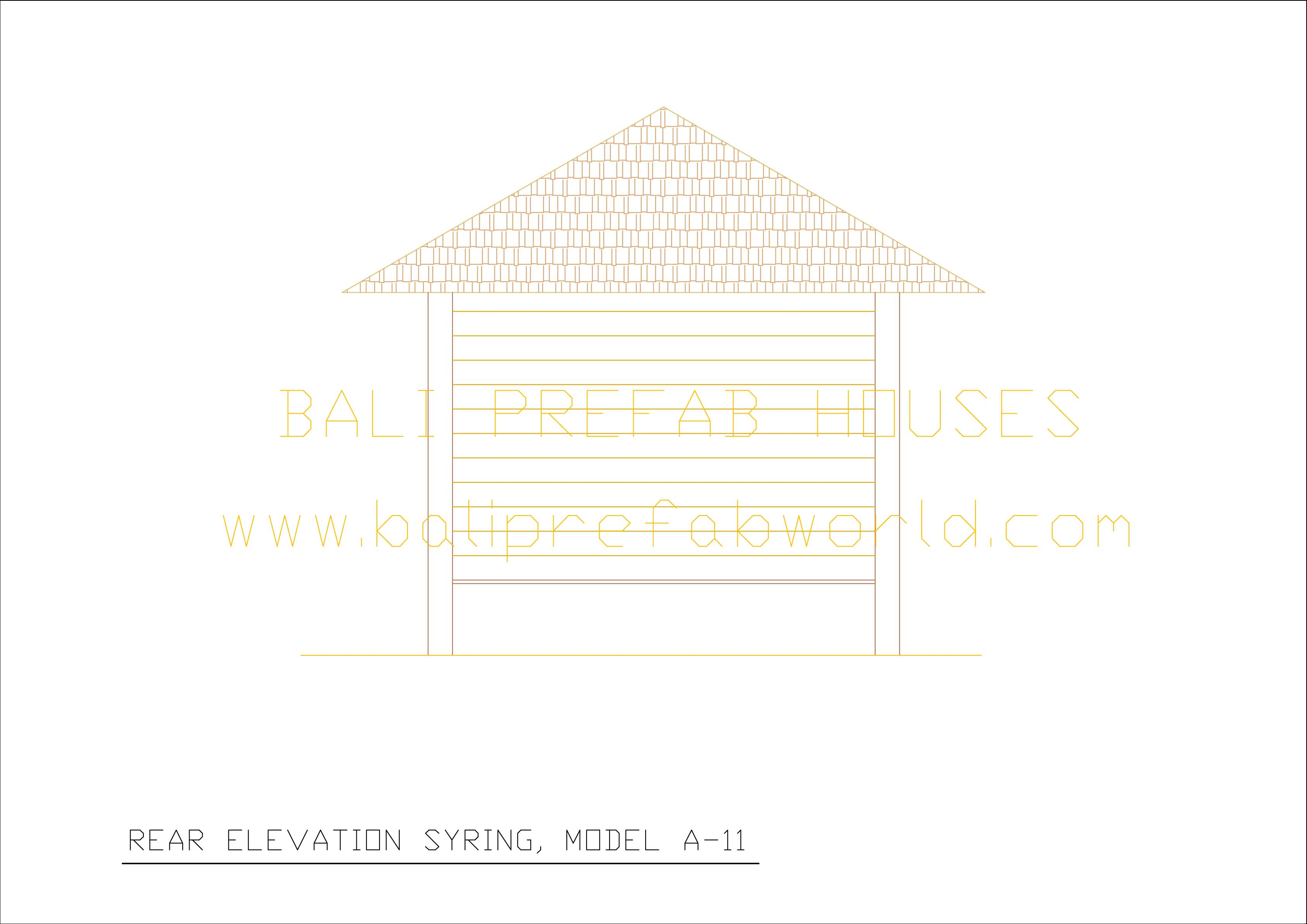 Syring for What is rear elevation