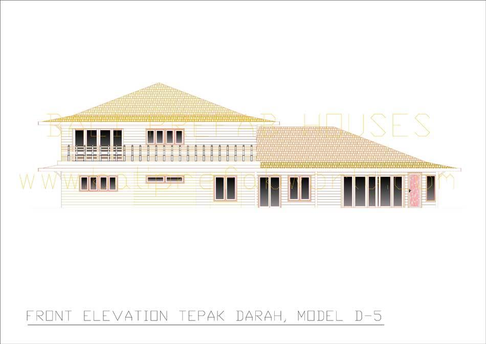 Tepak-Darah front elevation