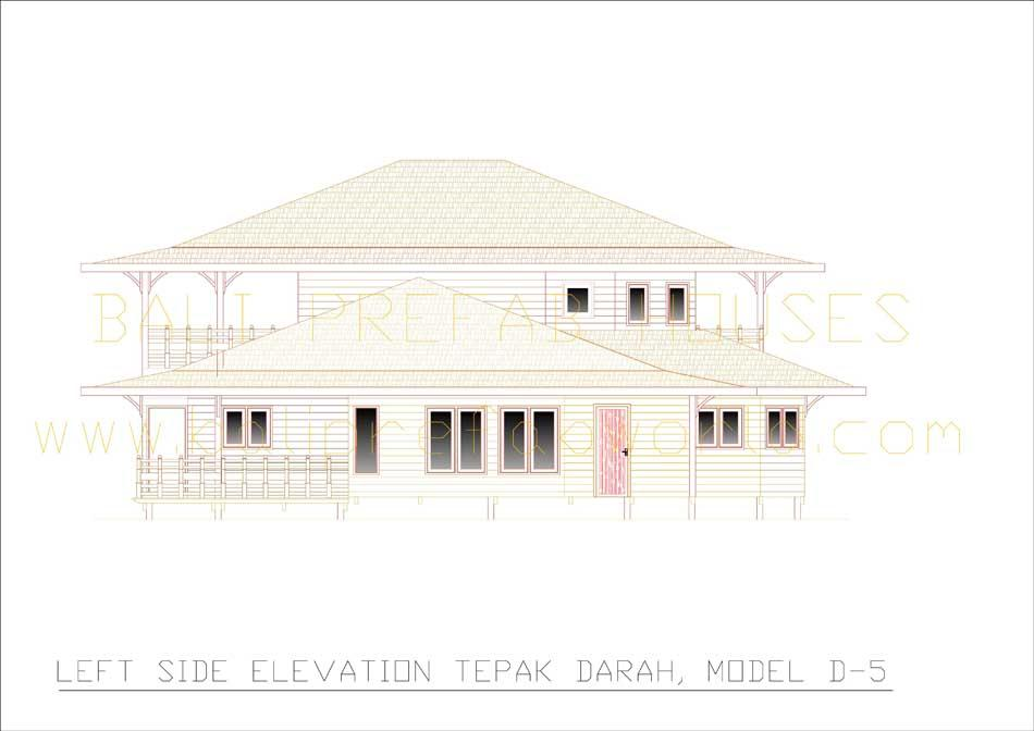 Tepak-Darah left side elevation