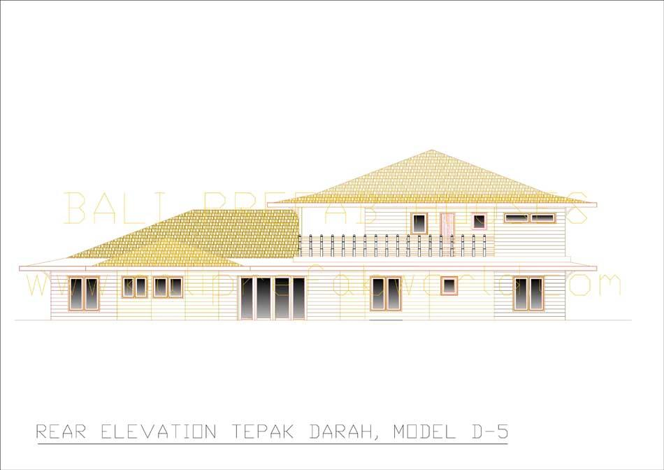Tepak-Darah rear elevation