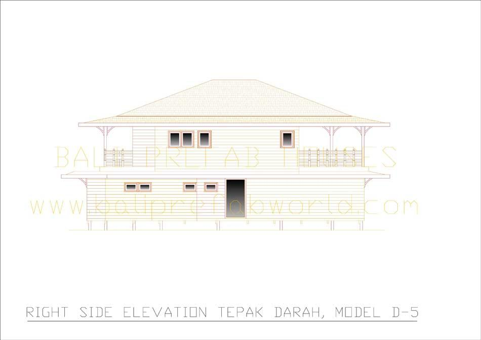 Tepak-Darah right side elevation