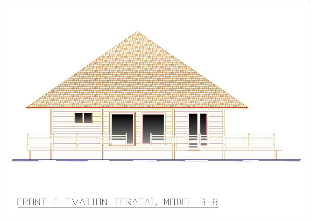 Teratai front elevation