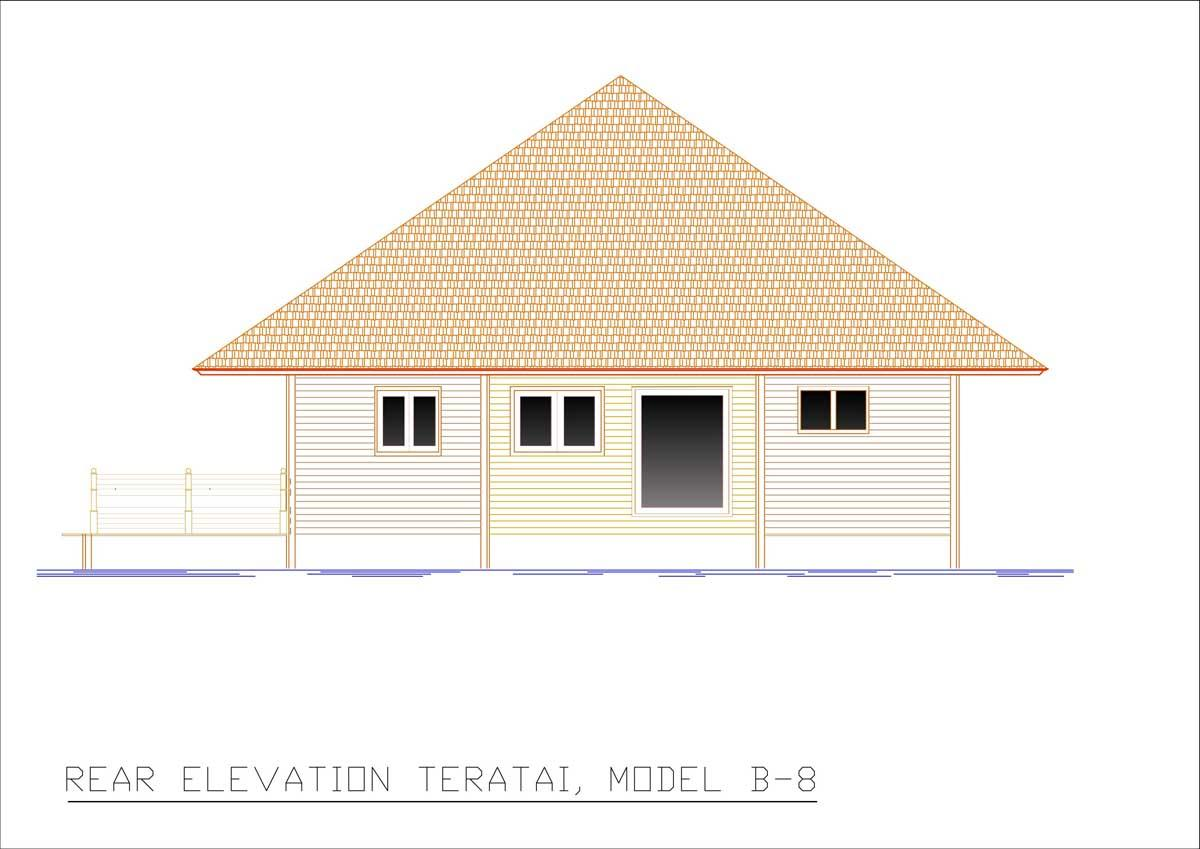 Teratai rear elevation