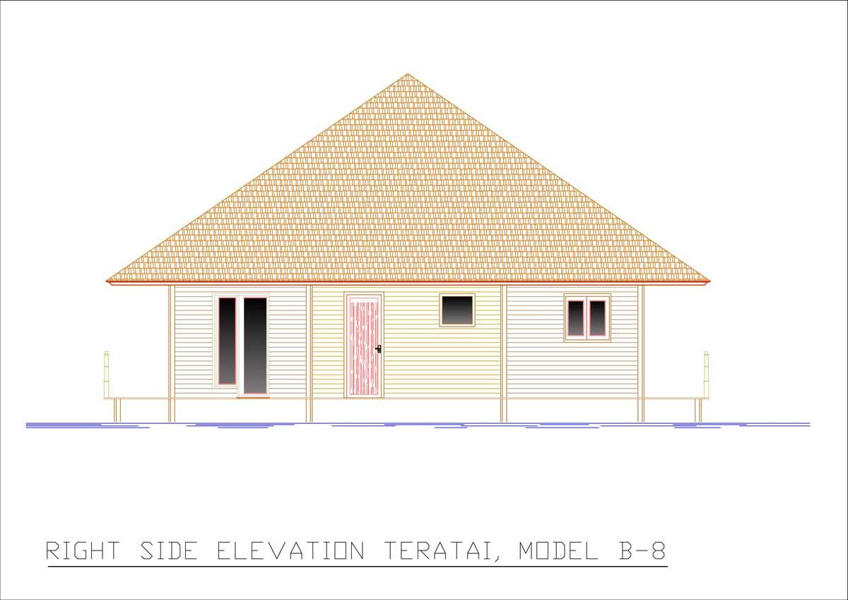 Teratai right side elevation
