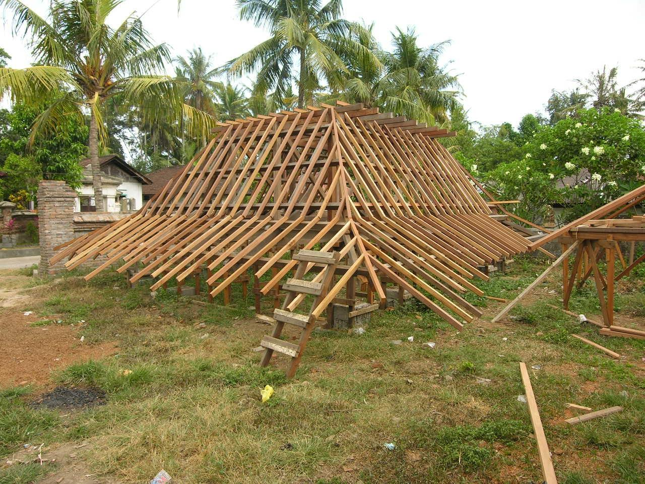 Bali prefab world prefab houses bali roof structures for Prefabricated roof
