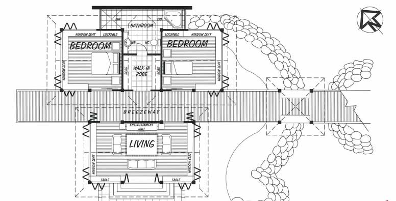 Queensland retreat floor plan