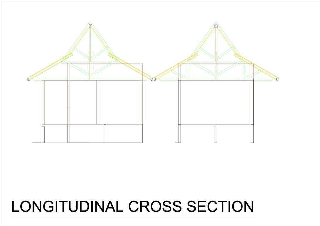 Queensland retreat longitudinal cross section